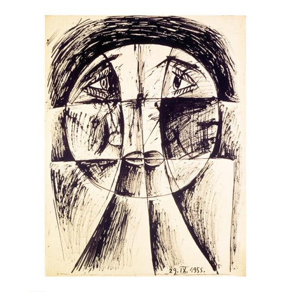 Εικονίδιο του έργου Βίκτωρ Μπράουνερ, Σύνθεση, 1955. Πατήστε για να ακούσετε την ακουστική περιγραφή του έργου και πληροφορίες για τον καλλιτέχνη.