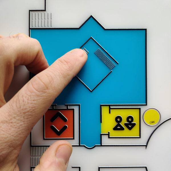 Εικονίδιο του έργου Απτικοί χάρτες πλοήγησης. Πατήστε για να ακούσετε την ακουστική περιγραφή του έργου και πληροφορίες για τον καλλιτέχνη.